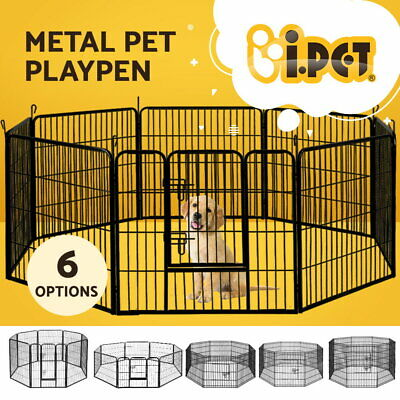 i.Pet 8 Panel Pet Dog Playpen Puppy Exercise Cage Enclosure Fence Cat Play Pen
