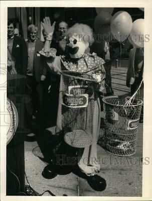 1989 Press Photo City Project Pride mascot unveiled in Albany, New York