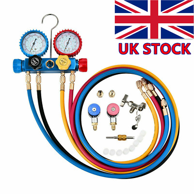 AC Manifold Gauge Set Quick Coupler Air Conditioner Refrigeration R134A R22 R404