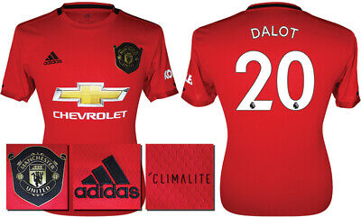 Dalot 20 - 19/20 Adidas Man Utd Home Shirt = Kids Size