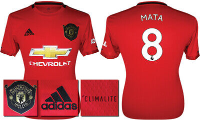 Mata 8 - 19/20 Adidas Man Utd Home Shirt = Kids Size