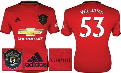 Williams 53 - 19/20 Adidas Man Utd Home Shirt = Kids Size