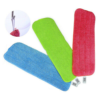 3PCS Replacement Mop Head Microfiber Pad Household Flat Floor Dust Cleaning Tool