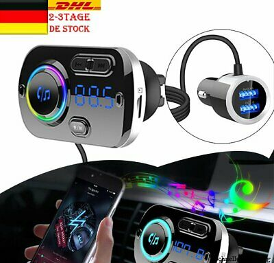 Auto KFZ FM Transmitter Bluetooth QC3.0 USB Ladegerät MP3 Player Adapter DHL