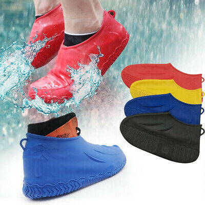 Silicone Overshoes Rain Waterproof Shoe Covers Boot Cover Protector Recyclable K