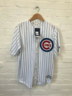 Chicago Cubs Majestic Men's Baseball MLB Jersey - Sizes M, XL - White - New