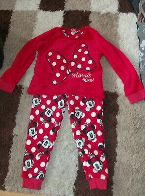 Matalan Girls Minnie Mouse Fluffy Pyjama Set UK size 8 - 9 Years New