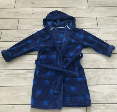 Next Boys Dressing Gown Age 8 Years Blue Stars Hooded
