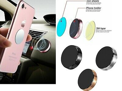 Car Magnetic Phone Holder Fits Dashboard Universal Mount Various Colours UK