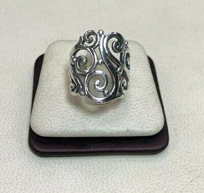 James Avery Sterling Silver Open Sorrento Ring Size 7
