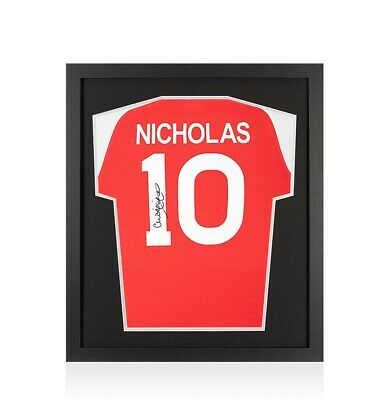 Framed Charlie Nicholas Signed Arsenal Shirt Number 10 - Compact Autograph