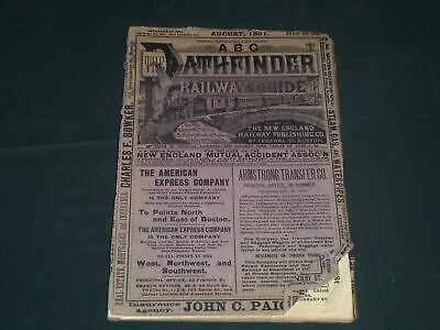 1891 August Abc The Pathfinder Railway Guide - J 4297