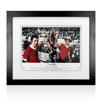 Framed Jimmy Case Signed Liverpool Photo - 1977 European Cup Winner