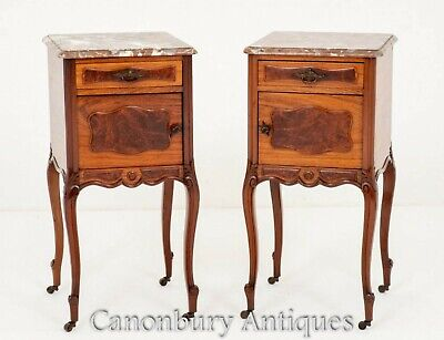 Antique Bedside Cabinets  - French Nightstands Circa 1870
