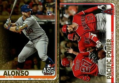 2019 Topps Update Gold Parallel #/2019 Singles W/ Rookie Rc - You Pick For Set