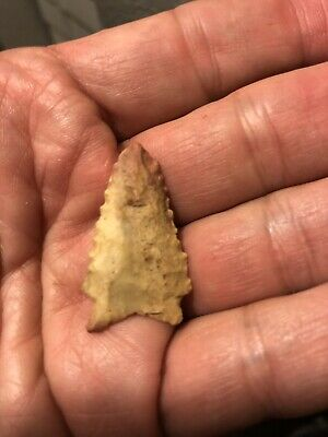 """Native American Artifact Louisiana Texas San Patrice Red Tip L 1 1/2"""" Fluted 2"""