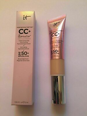 IT Cosmetics CC+ Cream (LIGHT) Your Skin but better Illumination SPF 50.