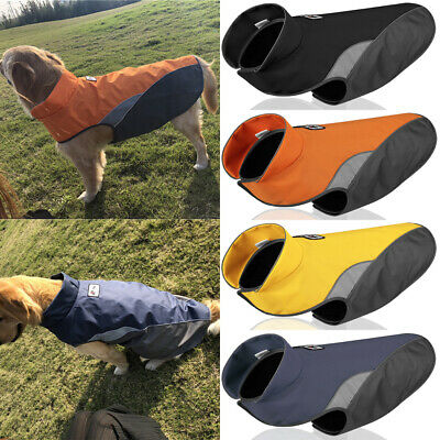 Waterproof Pet Dog Warm Padded Vest Coat Clothes Puppy Winter Jacket Apparel UK