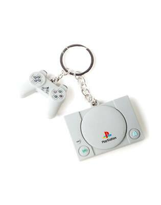 Sony PLAYSTATION Rubber Keychain Console & Controller 3D Difuzed Keychain