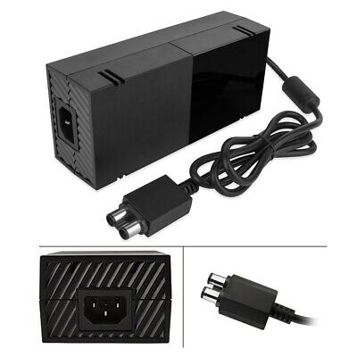 Mains Power Supply Adapter Charger Cable For Microsoft Xbox One New Black UK