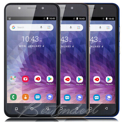 2019 New 5 INCH ANDROID 8.1 QUAD CORE 3G GSM Unlocked Mobile Smart Phone GPS UK