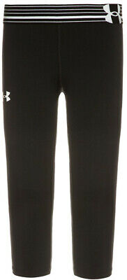 Under Armour HeatGear 3/4 Capri Junior Running Tights - Black