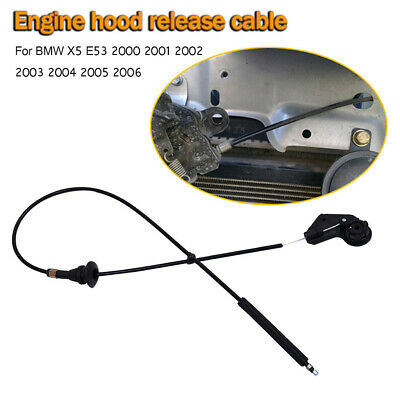 JSD 51238402615 Engine Hood Release Cable fits BMW E53 X5