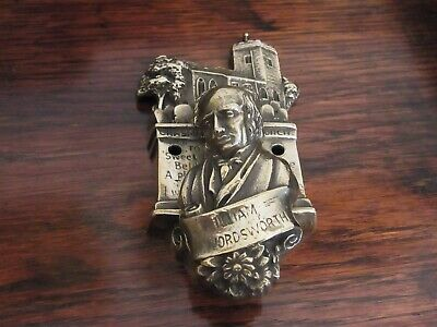 Vintage English door knocker circa 1910s William Wordsworth English Poet Brass