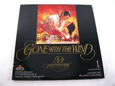 """Gone With The Wind, Clark Gable, 50th anniversary Edition, MGM/UA 12"""" Laser Disc"""