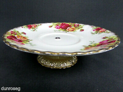 """1 OLD COUNTRY ROSES 16cm 6.25"""" CAKE STAND / LOW COMPORT, ENGLAND, ROYAL ALBERT"""