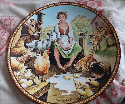 Knowles American Fine China THE MILKMAID AND HER PAIL