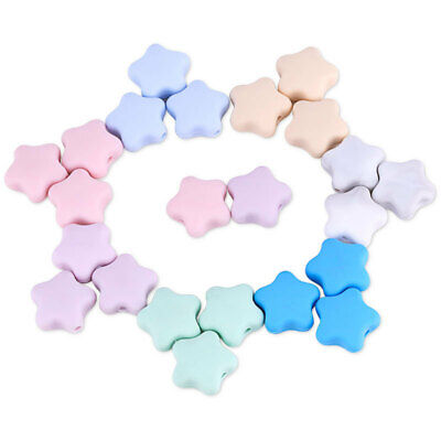 Star Silicone Beads DIY Baby Teething Sensory Jewelry Necklace Making BPA Free