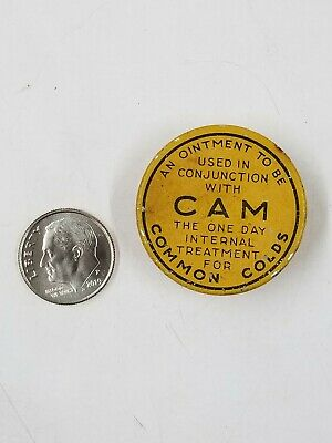 Vintage Cam Ointment Miniature Sample Medicine Tin St. Louis