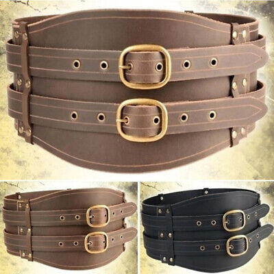 Medieval Viking Combat Leather Buckle Belt Knight Belt For Larp Theatre Cosplay