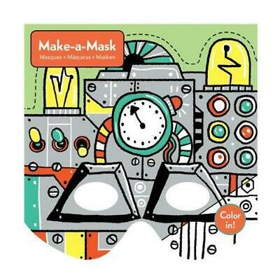 Robots Children's Make Your Own Colour In Masks Kit 4 Years + Mudpuppy NEW