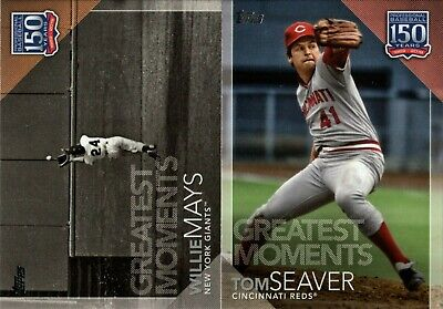 2019 Topps Update 150 Years Greatest Moments Insert Singles W/ Rc You Pick
