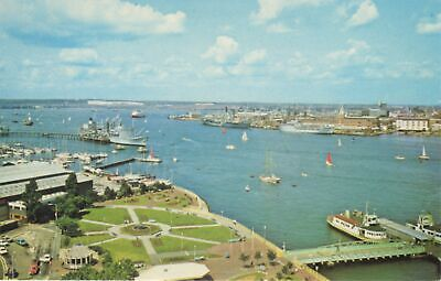 (at47) Portsmouth Harbour & Royal Navy Dockyard from Gosport Hampshire Postcard