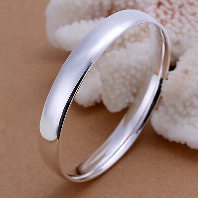 Classic 925 Sterling Silver Filled 10mm Round Golf Solid Bangle Bracelet BN-A230
