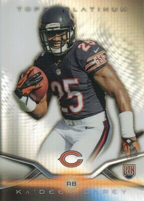 2014 Topps Platinum Football #142 Ka'Deem Carey RC Chicago Bears