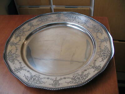 """Whiting Sterling Silver 14"""" Round Tray 37 oz. Rare Estate Find"""