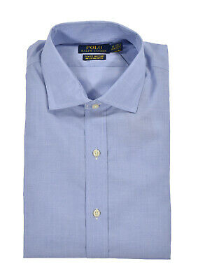 Ralph Lauren Polo Blue Slim Fit Cotton Stretch Easy Care Dress Shirt New