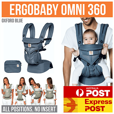 NEW ERGOBABY 360 OMNI COOL AIR MESH 4 Position ERGO BABY Carrier Oxford Blue