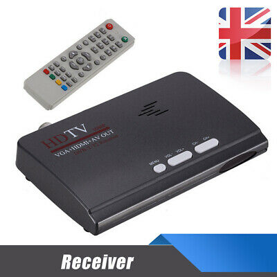 HDMI DVB-T T2 dvbt2 TV VGA Converter Receivers With USB Tuner Remote Control OQF