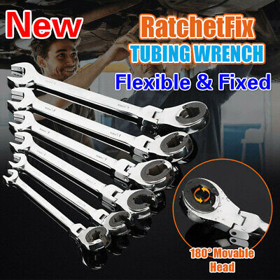 RatchetFix Tubing Wrench with Flexible Head Two Models- Flexible & Fixed Section