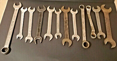 VINTAGE SPANNER WRENCHES BUNDLE - Bedford,Armstrong,Heyco,snail,Palmera,Gedore