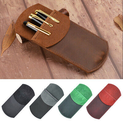 Portable PU Leather Pocket Protector Pen Pencil Holder Pouch for Shirt