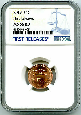 PCGS MS66 RD 2019 D Lincoln Shield Cent Penny Gem Uncirculated 1C