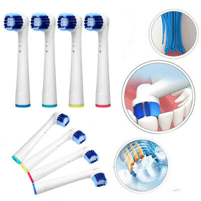 4 Pcs Replacement Electric Toothbrush Heads Soft 3D White Compatible With Oral-B