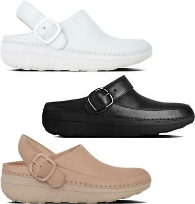 FitFlop GOGH PRO SUPERLIGHT™ Ladies Womens Genuine Leather Slip On Clog Shoes