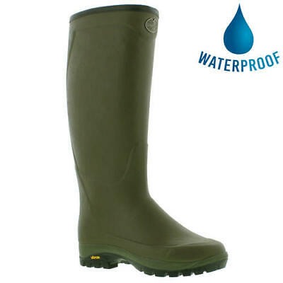 Le Chameau Country Vibram Neoprene Mens Wellington Boots Wellies Size 8-10.5